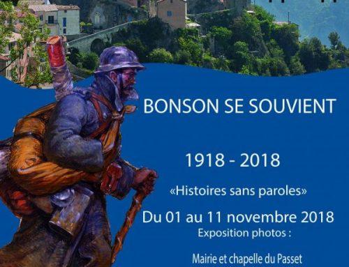 1914-1918 / 2014-2018 Bonson se souvient